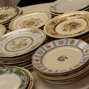 mismatched wedding plates